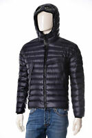Doudoune Homme CP Company 05CMOW018A Veste Imperméable à Capuche Bleu Neuf