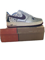 NIKE USED AIR FORCE ONE 1 PREMIUM (LEBRON) COLLECTION ROYALE 313985 061 Size 9.5