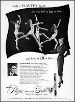 1952 Woman dancing in bra panties Playtex girdles vintage photo print ad ads57