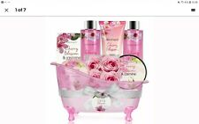 Bath and Body Gift Set - 8 Piece Gift Basket with Cherry Blossom & Jasmine Scent