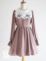 🌹Ank Rouge🌹Peter Pan Collar York Dress OnePiece Ash Pink Lolita Japan F426
