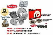 FOR PEUGEOT 307 2001-9/2006 FRONT & REAR BRAKE DISC SET & PADS & REAR BEARINGS