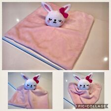 Baby Girls Bunny Rabbit Comforter Blankie Soother Pink Bow F&F Comfort Blanket