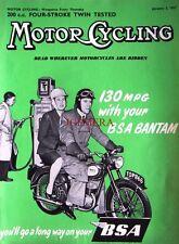 Jan 3 1957 B.S.A 'Bantam' Motor Cycle ADVERT - Magazine Cover Print
