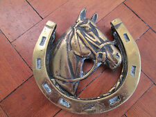 Old Solid Brass Horse shoe door knocker