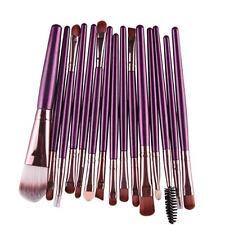 15 pcs/Set Eye Shadow Foundation Eyebrow Lip Brush Makeup Brushes Tool Purple B