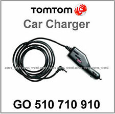 GENUINE TOMTOM GO 510 710 910 GPS CAR CHARGER LEAD 12v/24v CABLE ROUND PIN (U)