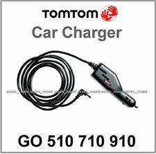 Genuino TomTom Go 510 710 910 GPS Coche Cargador Cable 12v/24v plomo Redondo Pin (N)