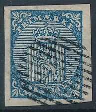 [56379] Norway 1855 good Used Very Fine big margins signed stamp $110 LUXE