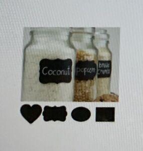 NEW 2 pkgs 48 ea. Chalkboard Blackboard Stickers Craft Kitchen Jar Labels Tags!