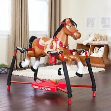 Rocking Horse for Toddlers Kids Radio Flyer Animated Spring Sound Happy Trails