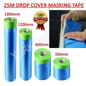 25m Indasa Various Drop Cover Masking Tape Roll Poly Film Sheet Easy Release UK