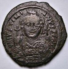 Byzantinisches Reich. Justinian I. (527-565). Follis.  // 35mm   19,05 gr.