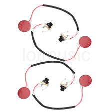 Pickup Piezo Transducer For Acoustic Guitar Violin Ukulele Cigar Box Parts 4pcs