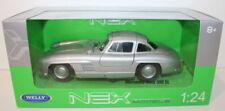 Voitures, camions et fourgons miniatures gris acier embouti pour Mercedes