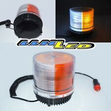 26 AMBER/WHITE LED SECURITY STROBE LAMP ROOF TOP EMERGENCY MAGNETIC 1 FLASH NEW