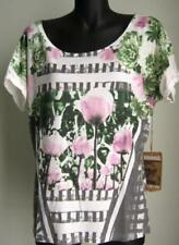 Regular Size Casual Floral Knit Tops for Women