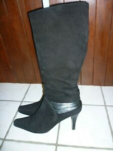 VAN DAL BLACK BOOTS SUEDE LEATHER KNEE HIGH BOOTS. UK 6 EU 39. IMMACULATE