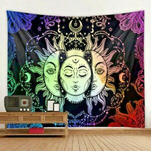 Wall Hanging Tapestry Psychedelic Face Mandala Decor Tapestries Wall Art New