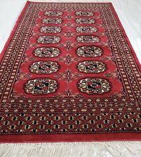 Hand-knotted Carpet 2x3 Finest Peshawar Bokhara Traditional Wool Rug Bokara