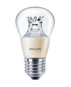 5 x Philips 6w = 40w LED DimTone Golf Ball Edison Screw ES Dimmable Lamp 2700k