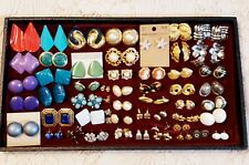 54 Piece Vintage & Modern Mixed Style Pierced Stud Earring Lot - Napier, Avon