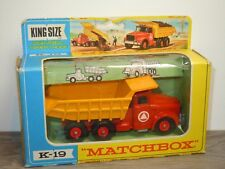 Scammel Tipper Truck - Matchbox King Size K-19 England in Box *32096
