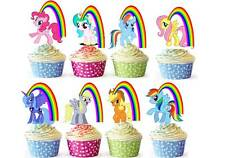 16 My Little Pony COMMESTIBILE CUP DECORAZIONI PER TORTA FATA PREMIUM WAFER STAND UPS grandi