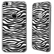 Animal Print Zebra Pattern Black & White Apple iPhone 6 Printed Hard Case Cover