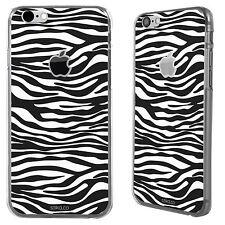 Animal Print Zebra patrón Blanco Y Negro Apple Iphone 6 Impreso Funda Rígida Cubierta