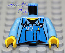 NEW Lego Boy Girl BIBS MINIFIG TORSO Light Blue Shirt w/Farmer Tool Bib Overalls