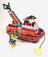 Paw Patrol Pirate Pups - PIRATE Marshall Ship & Figure Plus Pirate Chase HTF