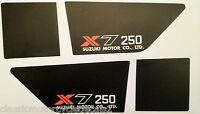 SUZUKI GT250 X7 GT250E MK2 SIDE PANEL DECALS