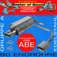 MASTER OF SOUND GR.A DUPLEX AUSPUFF V2A FORD FOCUS 2 FACELIFT
