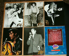 Rare Unreleased Elvis Presley Giant 5 Card Set EPE 5x7 Gold Embossed
