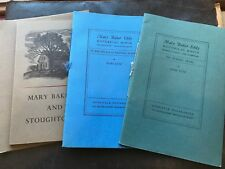 *[Christian Science 3 booklets Longyear Mary Baker Eddy's homes]*