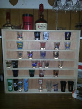 Shot glass display case. Holds up to 77 glasses. PLEASE READ DESCRIPTION!!!