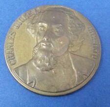 Commemorative Bronze Medal - Charles Dickens 1812 - 1870