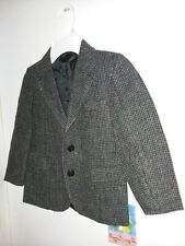 Gant boys l/s button down suit jacket blazer lined import wool blnd check gray 6