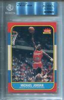 1986 Fleer Michael Jordan #57 Authentic BGS not PSA Rookie Card Serial last #23