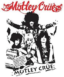 Motley Crue Iron On Transfer For T-Shirt & Other Light Color Fabrics #1