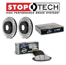 For Toyota Tundra Front StopTech Drilled Slotted Brake Rotors Fleet Pads Set Kit