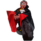 """Gemmy Animated HALLOWEEN DRACULA Figure """"I want to suck your blood"""" MOVES Works"""