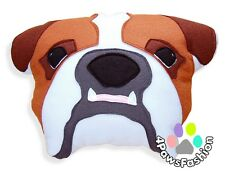 Bubbles English Bulldog Handmade Pillow Custom Pet Portrait Felt Dog Pattern