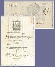 64058 - ITALIA REGNO - STORIA POSTALE : AVVISO COMUNALE di MAROSTICA ! 1864