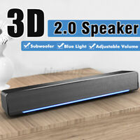 Powerful USB Multimedia Stereo Speakers System For PC Laptop Computer Desktop