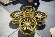 18x9.5 Aodhan DS02 5x100 +35 Gold Vacuum Rims Fits Wrx TC Celica Forester (Used)