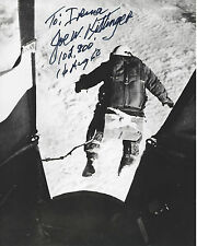 JOE KITTINGER HAND SIGNED AUTHENTIC 8X10 PHOTO 1 w/COA 102,800 FOOT JUMP SPACE