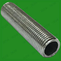 2x M10 70mm x 10mm Allthread Hollow Threaded Rod Tube For Electrical Lamp Socket