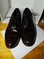The Florsheim Shoe Mens Burgundy Size 10 D Wingtip Dress Shoes 76402
